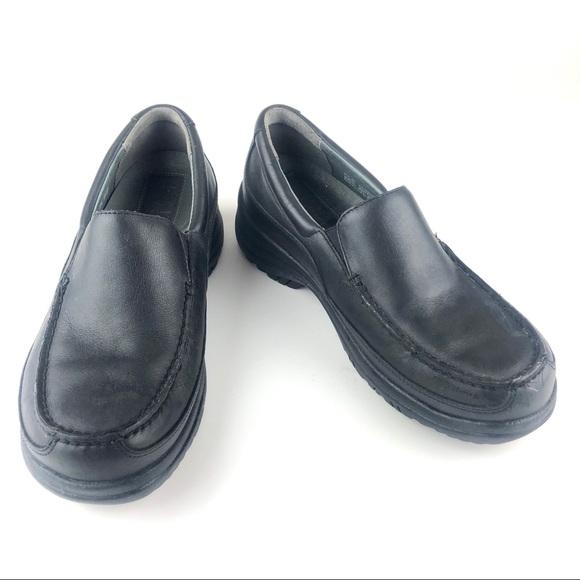 Dansko Mens Wayne Black Leather Slip On